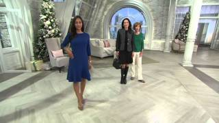 Liz Claiborne New York Heritage Collection Crepe Dress on QVC