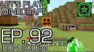 lets play minecraft episode 92 iron golem