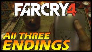 FAR CRY 4 All Endings - Good/Bad/Alternative Ending - All THREE Endings + Secret Cutscene (HD PS4)