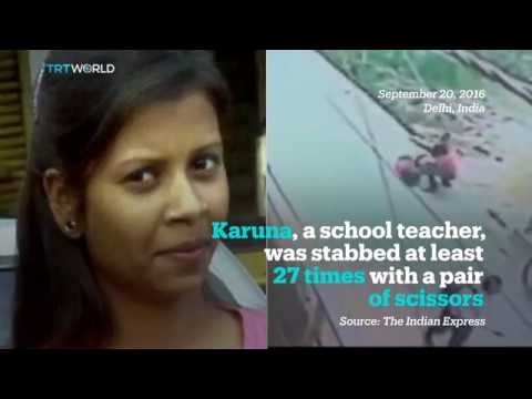 A woman stabbed 22 times by alleged stalker in India