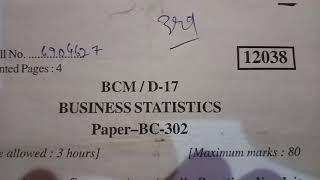 Business Statistics B.com 3rd sem 2017