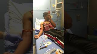 Kid gets scared of a needle