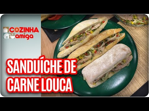 Sanduíche De Carne Louca E Lagarto Frito - Chef Gabriel Barone | Cozinha Amiga (26/05/17)