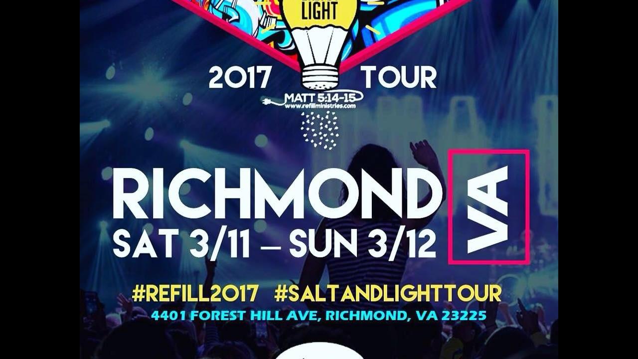 SALT & LIGHT TOUR 2017/ PROMO VIDEO/ REFILL MINISTRIES/ RICHMOND VA / MARCH 11&12 2017 - YouTube