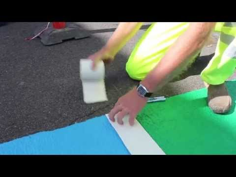 Cold plastic application with preformed thermoplastic road marking