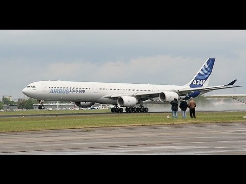 First Flight- Airbus A340