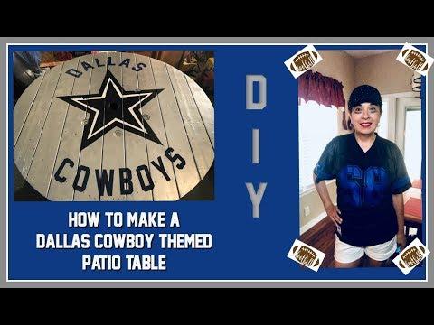 DIY -  Dallas Cowboys Themed Patio Table