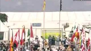 Flag Hoisting - 34th Jalsa Salana Germany 2009