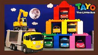 Tayo Kendaraan berat Mainan menunjukkan l #40 Garasi Mobil Warna untuk bus l Tayo Bus Kecil