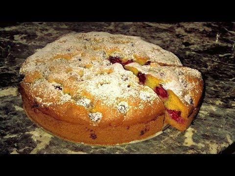 Пирог с малиной. Сметанный пирог с ягодами. Вы влюбитесь в этот рецепт!