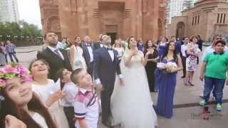 Роскошная яркая красивая шикарная армянская свадьба
