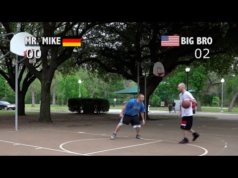 "V1F - 1 on 1 Basketball - MrMike vs Big Brother ""in Dallas"""
