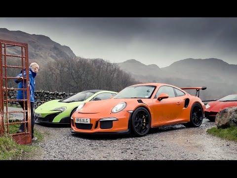 Lamborghini Aventador SV vs Porsche 911 GT3 RS vs McLaren 675LT | Top Gear Magazine