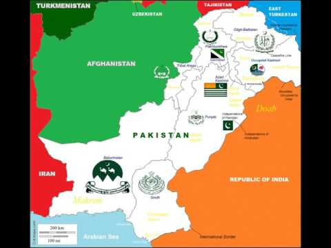 Constituent map of Pakistan