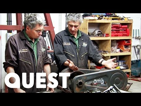 The Twins Fix Up A Rare WWII Motorcycle Powered Crank System | Combat Dealers