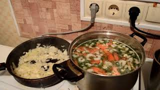 Суп с креветками. Быстро, просто и вкусно! Рецепт.