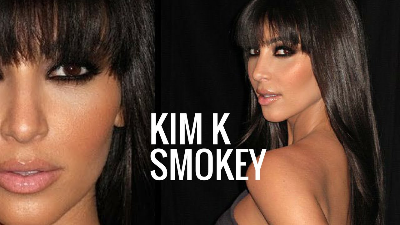 KIM KARDASHIAN MAKEUP TUTORIAL | Brown Smokey Eye - YouTube