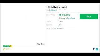 HOW TO MAKE AN INVISIBLE FACE IN ROBLOX/ROBLOX FEADLEES FACE OMG