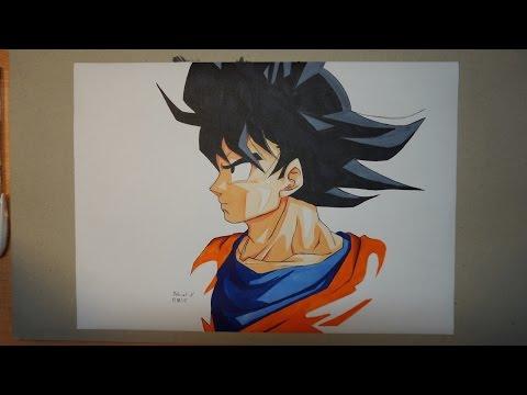 Dessin de Son Goku (Tuto en FR).