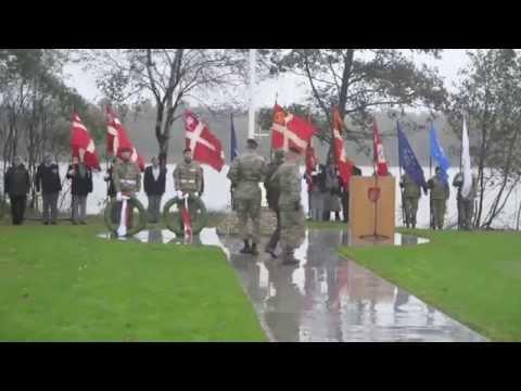 Mindesten For Faldne I Helmand Indviet I Oksbøl