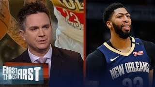 Lakers and Celtics engaged in separate trade talks for Anthony Davis | NBA | FIRST THINGS FIRST