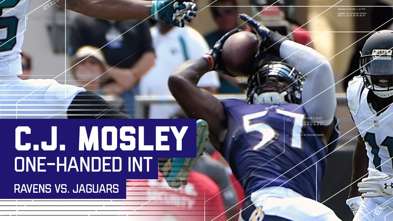 C J Mosley Makes Amazing e Handed INT