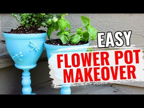 Dollar Store Flower Pot Makeover | DIY | Craft Klatch