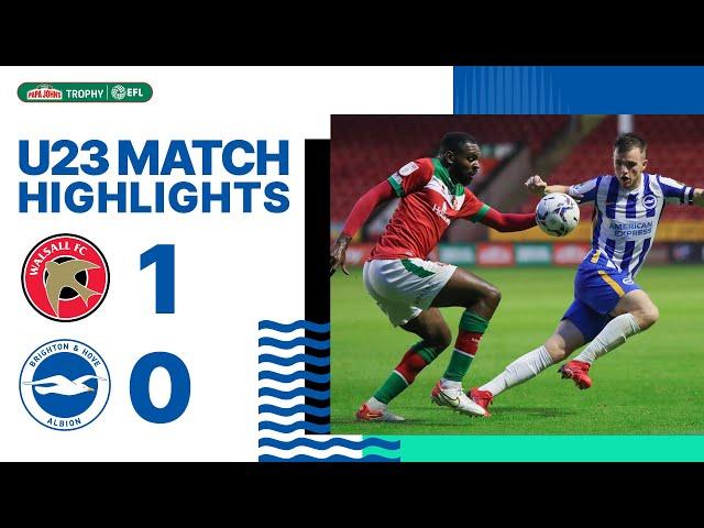 EFL Trophy Highlights: Walsall 1 Albion 0