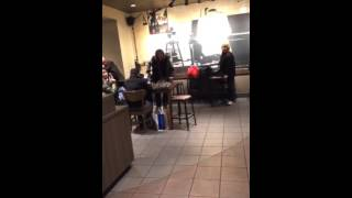 Homeless Woman Assaults Starbucks Barista and Throws Chair at Customers