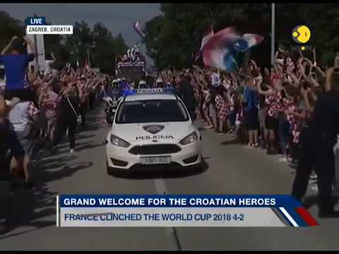 Your Story: Welcome parade for Croatian football team in Zagreb