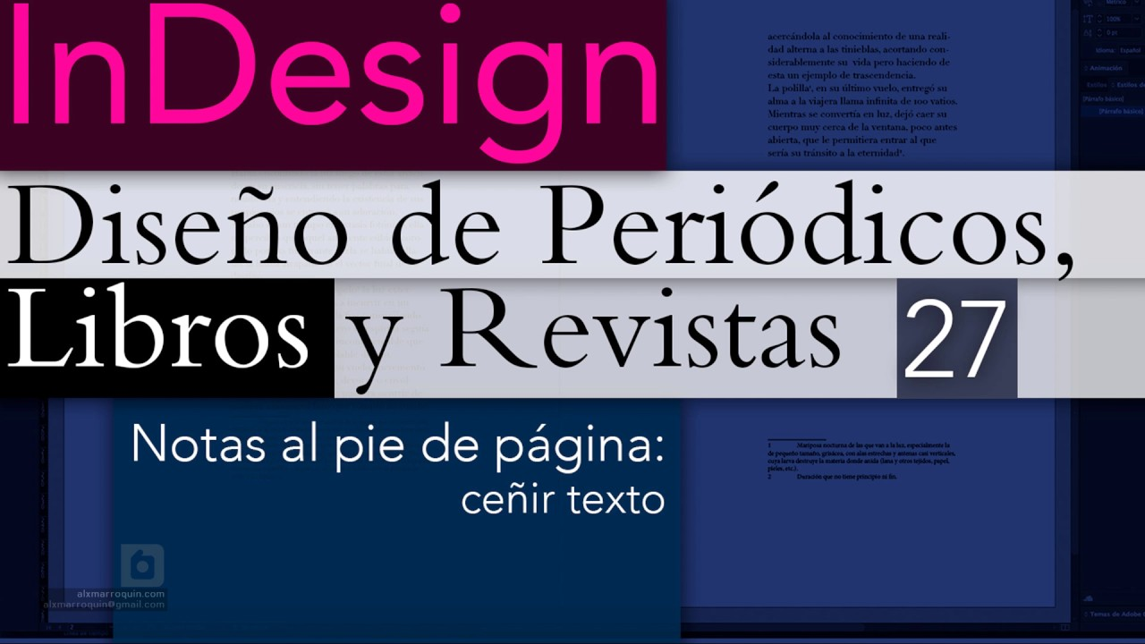 Indesign Notas Al Pie De Página Ceñir Texto Youtube