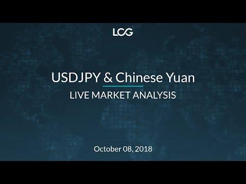 USDJPY & Chinese Yuan Live Market Analysis - Oct 8, 2018