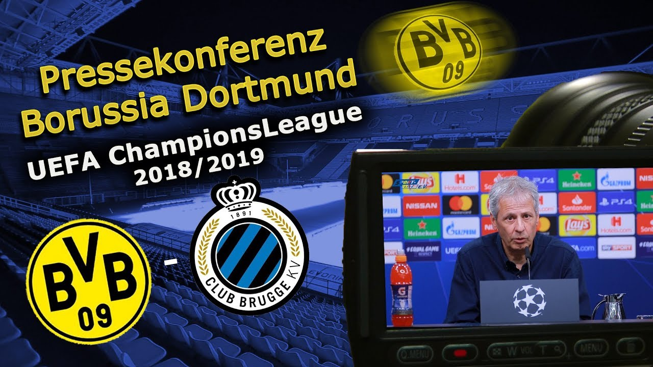 Borussia Dortmund - FC Brügge: Pk mit Lucien Favre und Mario Götze