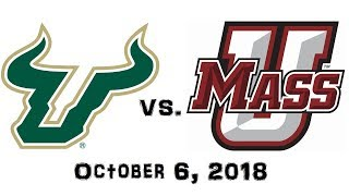 October 6, 2018 - South Florida Bulls vs. UMass Minutemen Full Football Game