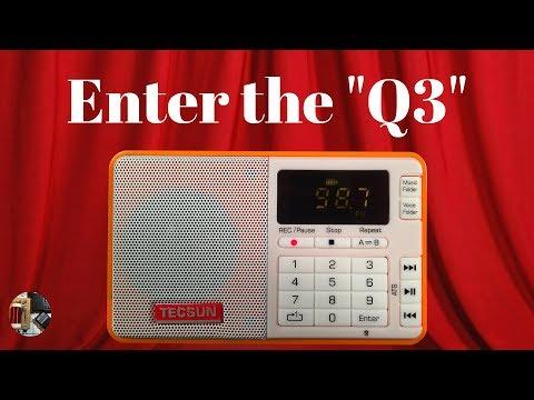 Tecsun Q3 FM Stereo / Recorder / MP3 Portable Radio Review