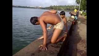 Repeat youtube video Swimming in Rankala Lake at Kolhapur, Maharashtra, India