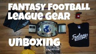 Fantasy Jocks Unboxing (Championship Trophy, Belt, Ring) | 2018 Fantasy Football