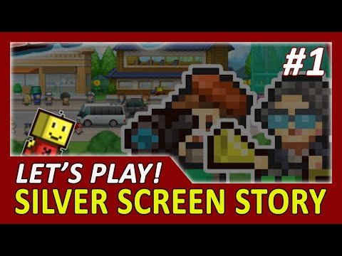 [Let's Play] Kairosoft Silver Screen Story #1 | Start A New Game - First 12 Min. In-Game Experience