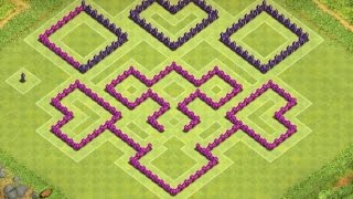 Clash of Clans - Epic Town Hall 8 Trophy base ( th8 trophy base ) speed build 2014 !!