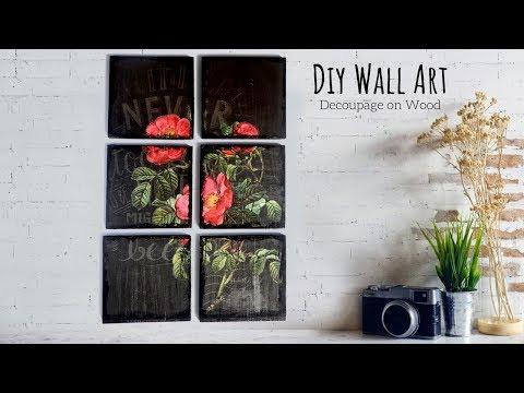 Decoupage Art for Beginners | DIY Wall Art | Wall Decoration Ideas | Vintage Home Decor