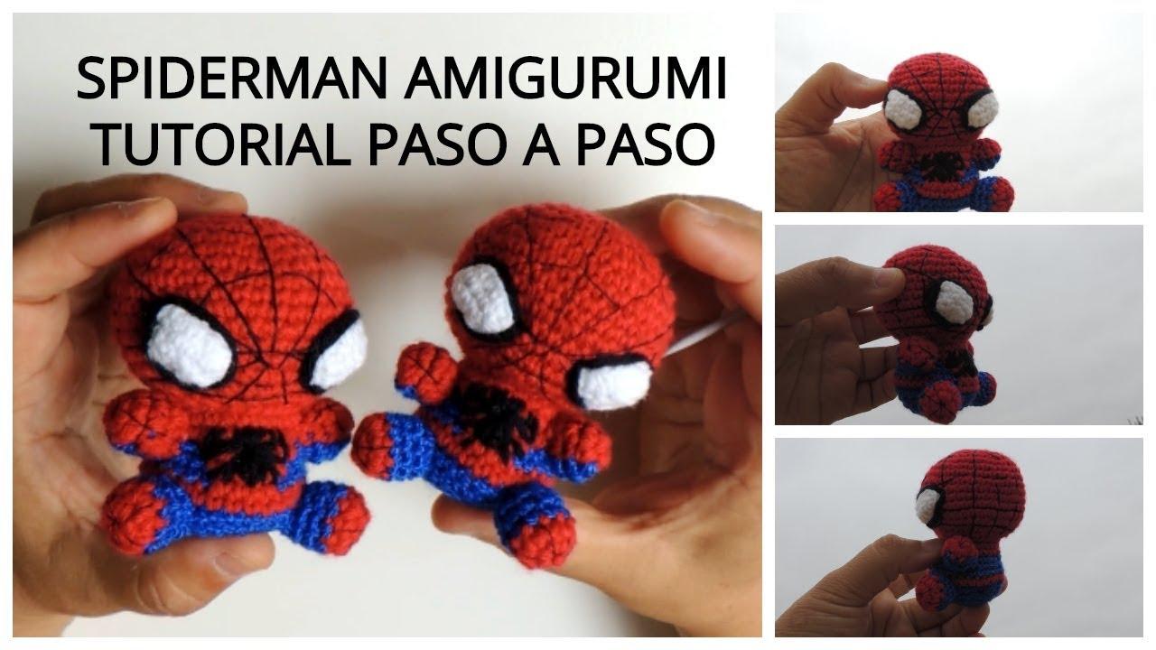 SPIDERMAN HOMBRE ARAÑA AMIGURUMI TEJIDO A CROCHET 3/3 - YouTube | 720x1280
