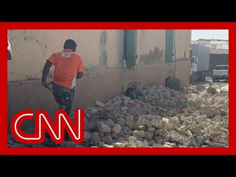 Video shows aftermath of 7.2-magnitude Haiti earthquake