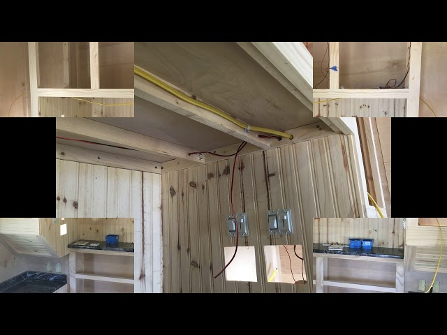 RV Trailer Build #102 - Installed LED Lights in Bedroom Cabinets, Ran All Home Runs (5)