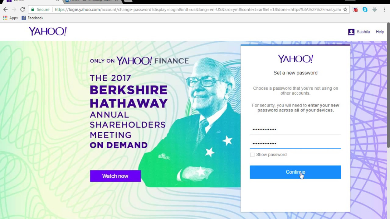 How To Reset Yahoo Mail Pword