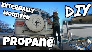 How to Externally Mount a Propane Tank - Camper Van DIY