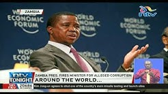 Zambia president fires minister for alleged corruption