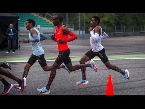 4bd8de78d07 Athletes attempt to break two-hour marathon barrier wearing  custom-engineered Nike trainers