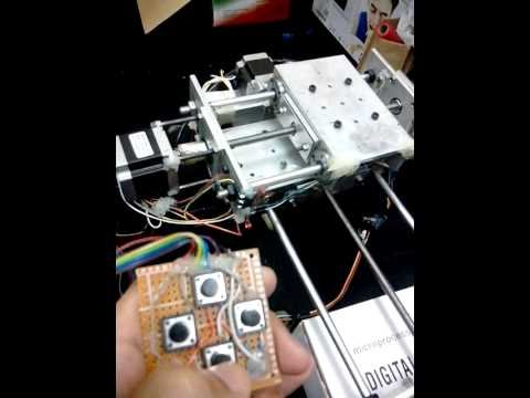 manual control stepper motor using easy driver and arduino