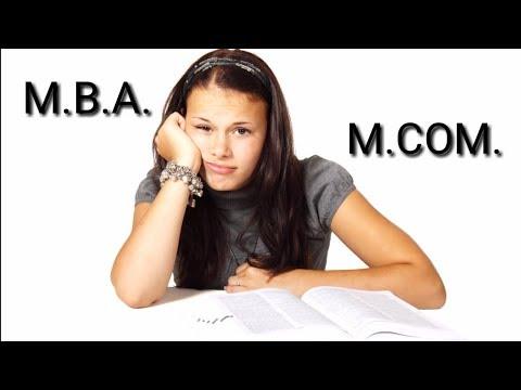 MBA YA M.COM | MBA KRE YA M.COM|