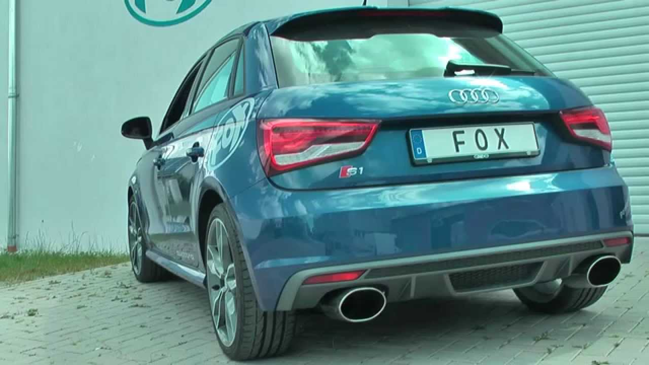 audi s1 fox sportauspuff exhaust by fiese performance. Black Bedroom Furniture Sets. Home Design Ideas
